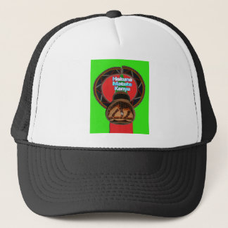 Cool Retro Vintage Hakuna Matata Gifts Kenya Guard Trucker Hat