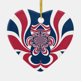 Cool Retro Vintage Hakuna Matata Gifts trendy flag Double-Sided Heart Ceramic Christmas Ornament