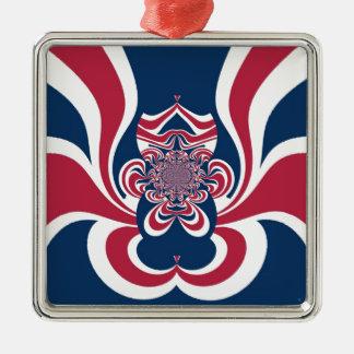 Cool Retro Vintage Hakuna Matata Gifts trendy flag Square Metal Christmas Ornament