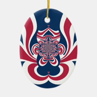 Cool Retro Vintage Hakuna Matata Gifts trendy flag Double-Sided Oval Ceramic Christmas Ornament
