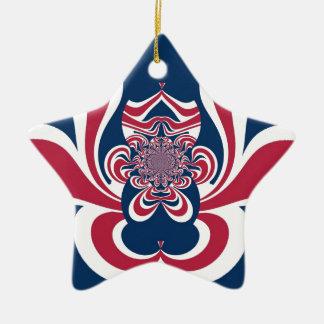 Cool Retro Vintage Hakuna Matata Gifts trendy flag Double-Sided Star Ceramic Christmas Ornament