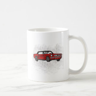 Cool Retro Vintage Red Convertible Pony Car Coffee Mug