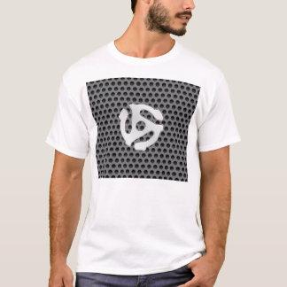 COOL Retro Vintage Silver Chrome Like 45 spacer DJ T-Shirt