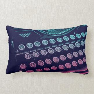 Cool Retro Vintage Typewriter Pop Art Throw Pillow