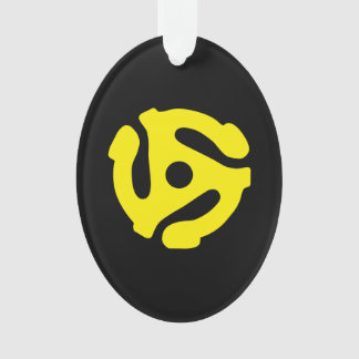 COOL Retro Vintage Yellow 45 spacer DJ Ornament