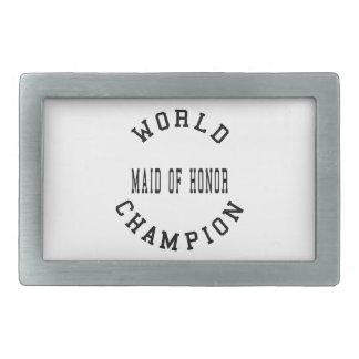 Cool Retro World Champion Maid of Honor Rectangular Belt Buckle