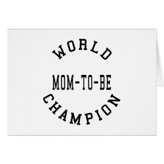 Cool Retro World Champion Mom to Be Greeting Cards