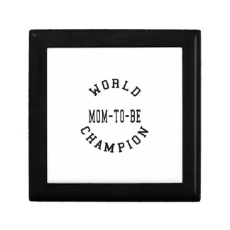 Cool Retro World Champion Mom to Be Gift Boxes