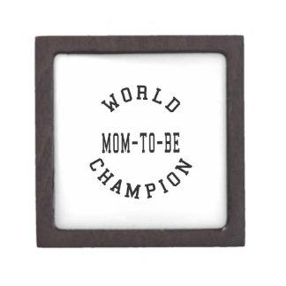 Cool Retro World Champion Mom to Be Premium Keepsake Boxes