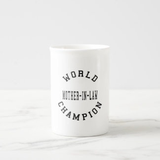 Cool Retro World Champion Mother in Law Porcelain Mugs