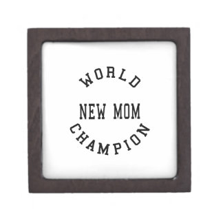 Cool Retro World Champion New Mom Premium Trinket Box