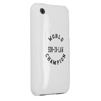 Cool Retro World Champion Son in Law Case-Mate iPhone 3 Cases