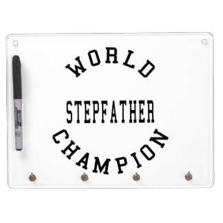 Cool Retro World Champion Stepfather Dry Erase White Board