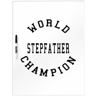 Cool Retro World Champion Stepfather Dry-Erase Whiteboard