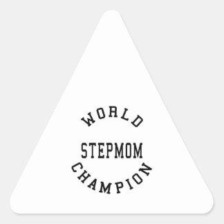 Cool Retro World Champion Stepmom Triangle Sticker