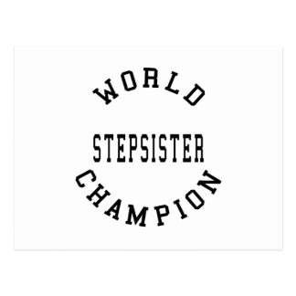 Cool Retro World Champion Stepsister Post Card