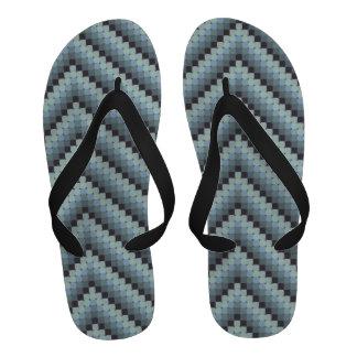 Cool Retro Zigzag Flip Flops