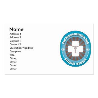 Cool Rheumatologists Club Business Card