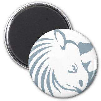 Cool Rhinoceros Swish Logo Icon Style Magnet