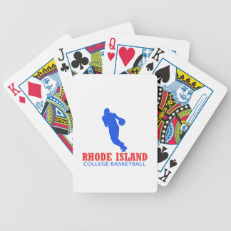 cool Rhode Island basketball DESIGNS Bicycle Playing Cards