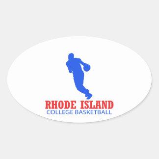 cool Rhode Island basketball DESIGNS Oval Sticker
