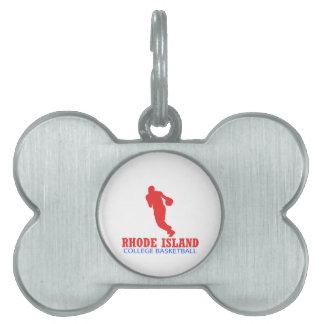cool Rhode Island basketball DESIGNS Pet Name Tag