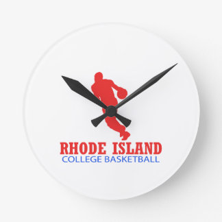 cool Rhode Island basketball DESIGNS Round Clock