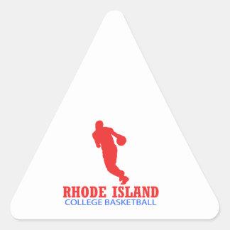 cool Rhode Island basketball DESIGNS Triangle Sticker