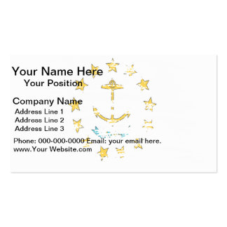 Cool Rhode Islander flag design Double-Sided Standard Business Cards (Pack Of 100)