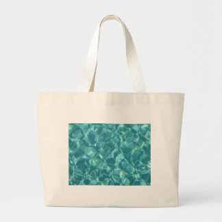 Cool ripples of water large tote bag
