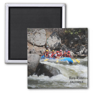 Cool River Rafting Magnet! 2 Inch Square Magnet