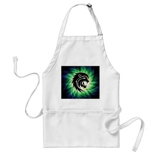Cool Roaring Lion Silhouette Aprons