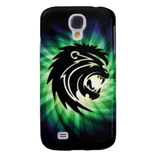 Cool Roaring Lion Silhouette Samsung Galaxy S4 Covers