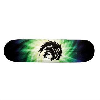 Cool Roaring Lion Silhouette Skateboard