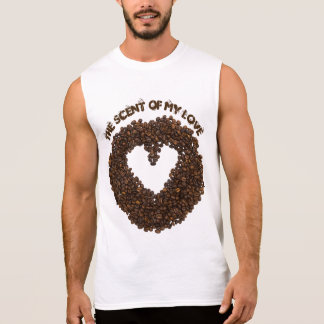 Cool Roasted Coffee Beans In Shape Of Heart Sleeveless Shirt