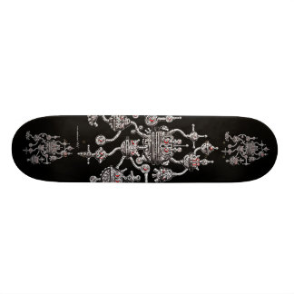 Cool robotics graphic art skateboard design