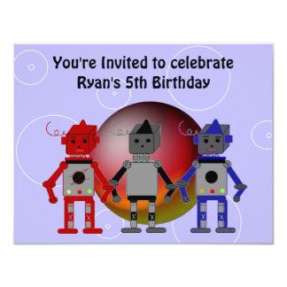 Cool Robots Birthday Invitation