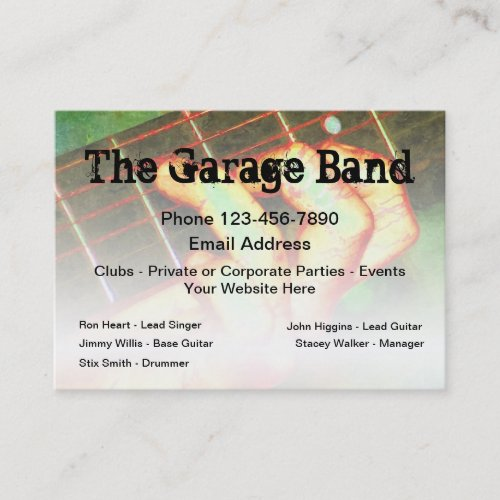 Cool Rock Band Music Theme Business Card