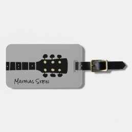 cool rock guitar music travel luggage tag
