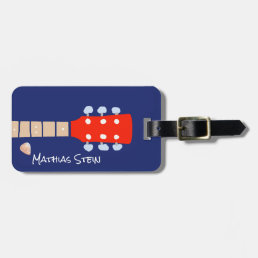 cool rock guitar musicians travel bag tag