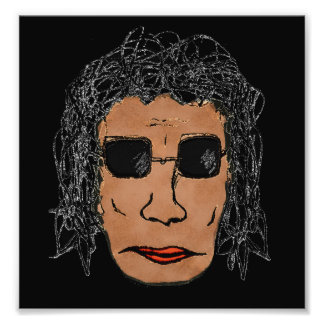 Cool Rock Star Man Drawing Photo Print