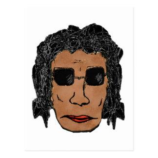 Cool Rock Star Man Drawing Postcard