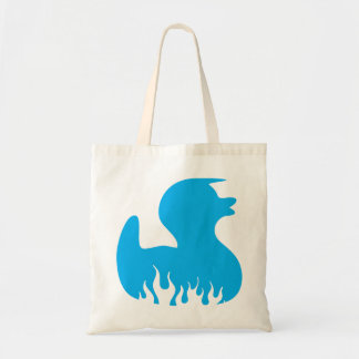 Cool rockabilly duck tote bags