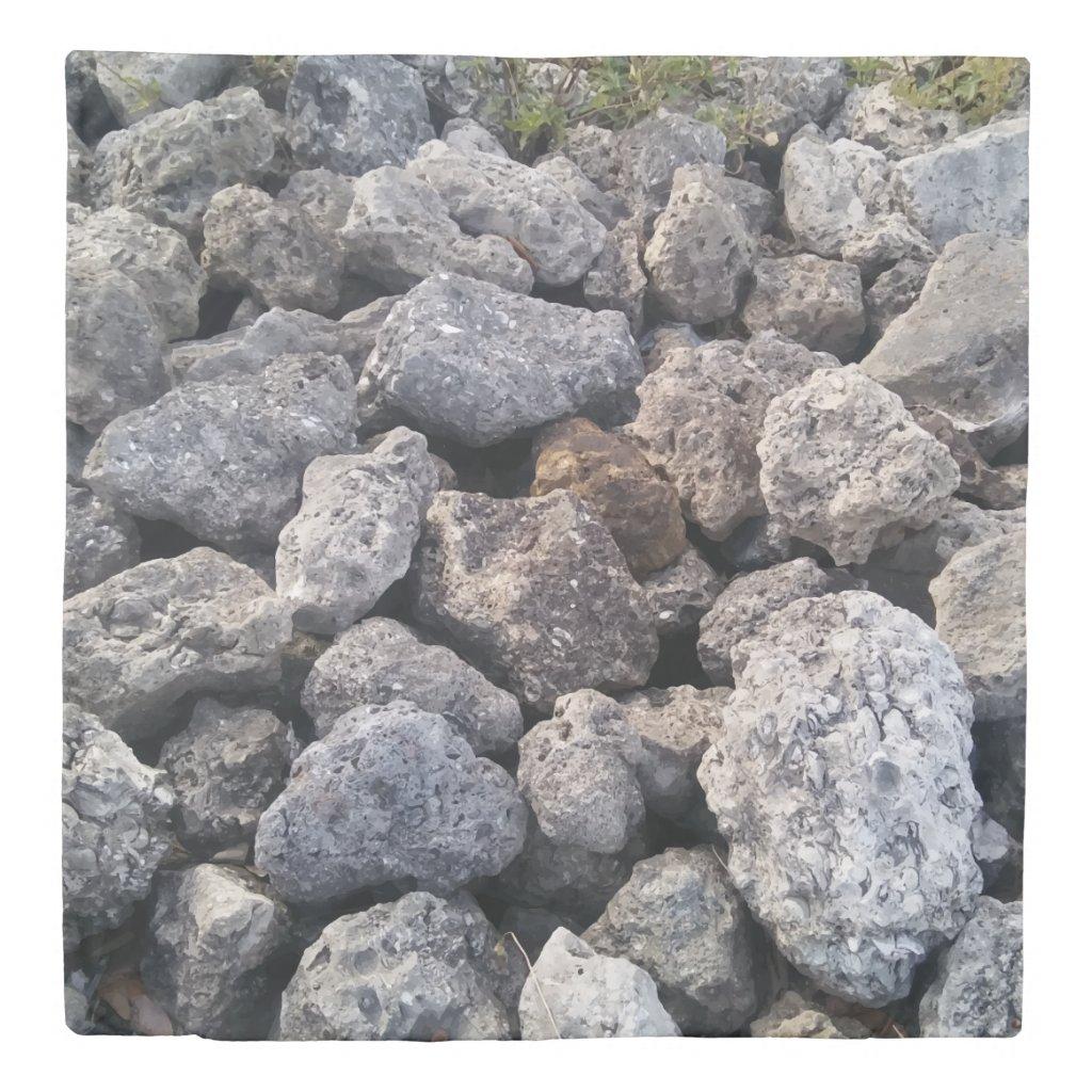 Cool Rocks Photo Print Design Duvet Cover