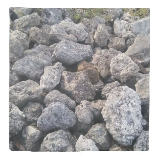 Cool Rocks Photo Print Design Duvet Cover