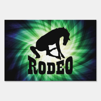 Cool Rodeo Lawn Sign