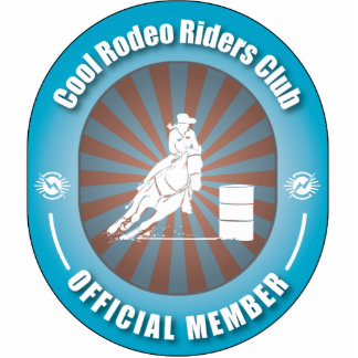 Cool Rodeo Riders Club Photo Sculpture Ornament