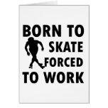 Cool Roller Skate Designs Greeting Card
