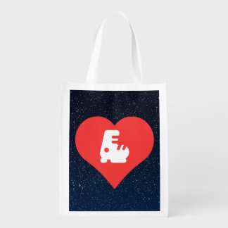 Cool Rollerblades Pictograph Grocery Bag