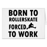 Cool Rollerskate Designs Greeting Card